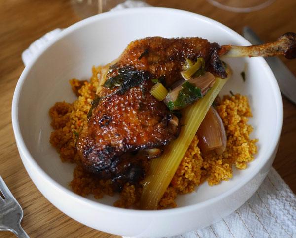 poulet mariné aux agrumes et champagne Louise Brison millésime 2012